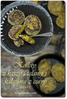 Balls with cauliflower - Balls with millet Gluten Free Dinner, Fritters, Griddle Pan, Cauliflower, Vegan Recipes, Vegan Food, Good Food, Veggies, Vegetarian