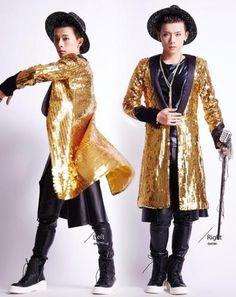 Men's Sequin Jacket Nightclub Bar Male Singers Performance Costume Coats N56