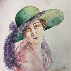 A personal favorite from my Etsy shop https://www.etsy.com/listing/478455213/watercolor-woman-portrait-small-portrait