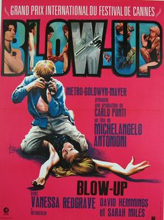 Posters - Cinema Blow-Up Michelangelo Antonioni France / 1970 / Cinema Posters / Georges Kerfyser / Original vintage french re-release movie poster… / MAD on Collections - Browse and find over categories of collectables from around the world Glenda Jackson, Carlo Ponti, Michelangelo Antonioni, Vanessa Redgrave, Metro Goldwyn Mayer, Original Movie Posters, Movie Poster Art, John Travolta, Cinema Posters