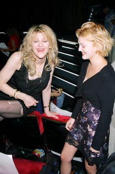 Courtney Love and Drew Barrymore at rehearsals for the MTV Video Music Awards in 1995.