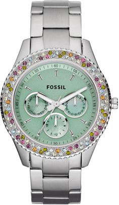 #Fossil #Watch , Fossil Stella Stainless Steel Watch ES3051