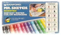 Mr. Sketch Scented Markers- Love these. I remember the teacher handing us each our own box.