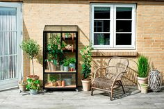 The Juliana City Greenhouse is perfect for people with small spaces like a balcony or a terrace. It makes year-round urban gardening super simple. Miniature Greenhouse, Small Greenhouse, Greenhouse Plans, Greenhouse Gardening, Urban Gardening, Garden Buildings, Garden Structures, Big Garden, Balcony Garden