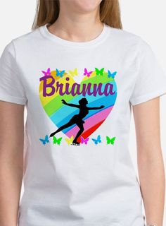 CUSTOM SKATER Tee Give the holiday gift every Figure Skater will treasure with our beautiful personalized Figure Skating Tees and Gifts. http://www.cafepress.com/sportsstar/10189550 #Figureskater #FigureSkating #Iloveskating #Borntoskate #Personalizedskater