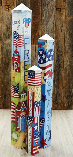 Art Pole Garden Collection - We gave artist Stephanie Burgess of Painted Peace…