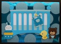 Handmade baby card using Baby Steps cricut cartridge
