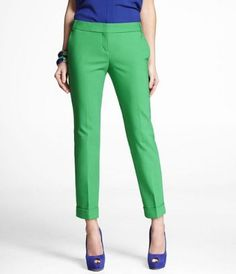 obsessed with colorful skimmer pants! I wish I could afford to buy every color. ULTIMATE DOUBLE WEAVE EDITOR ANKLE PANT at Express