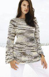 Free Knitting Pattern - Women's Sweaters: Sari Sweater - Intermediate - Size 9, 12, 15 Needles - Great dress design, alpaca & angora mix would be so comfy!