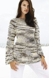 Free Knitting Pattern - Womens Sweaters: Sari Sweater