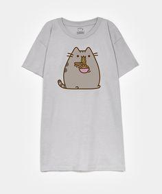 Pusheen eating ramen unisex T-shirt - Hey Chickadee Pusheen T Shirt, Pusheen Cute, Pusheen Stuff, Lazy Outfits, Cool Outfits, Casual Outfits, Mode Harry Potter, Kids Shirts, T Shirts For Women