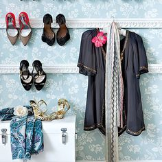 Shoe storage meets shoe decor - how to get this space-saving, stylish look...