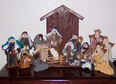 Primitive Wood Nativity, (saw this crafters work at a recent craft fair, just LOVE her stuff! MUST take a look at everything!)