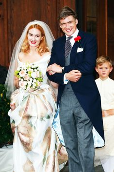 royalwatcher:  Wedding of Princess Maria Theresia von Thurn und Taxis and Hugo Wilson, Tutzing, Germany,  September 13, 2014. Maria Theresia's dress was designed by Vivienne Westwood.
