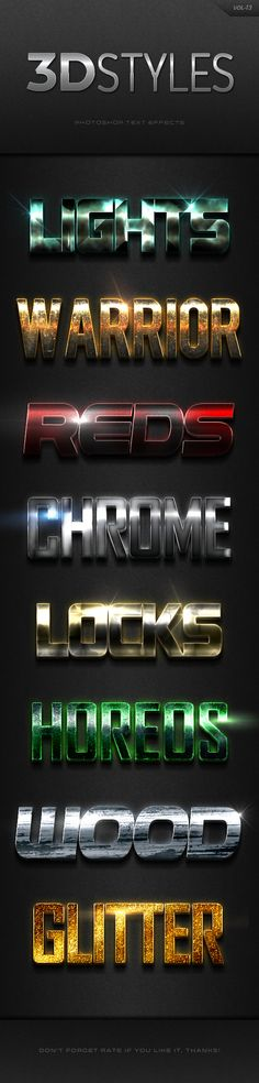 3D Photoshop Text Effects Vol.13 - Text Effects Actions