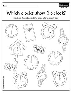 Fun telling time to the hour worksheets for preschool and kindergarten - telling time activities printables. Preschool Writing, Free Preschool, Kindergarten Worksheets, Before Kindergarten, Kindergarten Lesson Plans, Have Fun Teaching, Teaching Time, Clock Worksheets, Grammar Worksheets