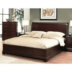 Abbyson Living Beverley Espresso Bedroom Set - Overstock™ Shopping - Great Deals on Abbyson Living Beds King Bedroom Sets, Wooden Bed Design, Bed Designs With Storage, Bed Furniture Design, Bedding Sets, Abbyson Living, Bed Design Modern, Bedroom Bed Design, Wood Platform Bed