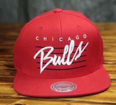 Chicago Bulls Mitchell & Ness Cursive Retro Script Snapback Hat