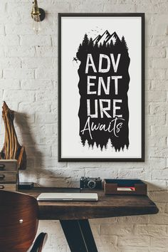 Adventure Awaits printable quote by CallItMagicDesigns on Etsy