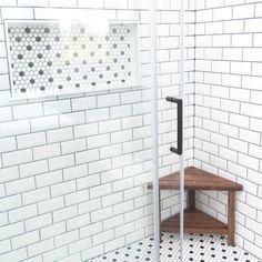 A little Thursday morning shower inspiration Shower Base, Glass Shower, Showroom Design, Kitchen And Bath, Diy Kitchen, Shower Inspiration, Scandinavian Design, Building Design, Diy Design