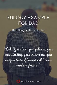 60 Best Eulogy Examples images in 2019 | Eulogy examples ...