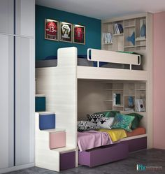 While every kid might want a room of their own, the reality is that sometimes it& just not feasible. In smaller homes for families that are growing, sharing a Room Ideas Bedroom, Home Bedroom, Childrens Bedroom Decor, Childrens Bedrooms Shared, Fantasy Bedroom, Teen Decor, Teen Girl Bedrooms, Kids Room Design, Dream Home Design