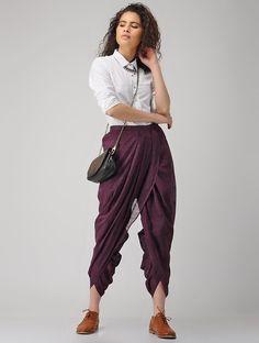 Teen Fashion Outfits, Fashion Pants, Casual Outfits, Fashion Dresses, Dress Indian Style, Indian Dresses, Indian Outfits, Dhoti Salwar Suits, Dhoti Saree
