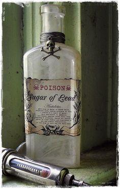 Sugar of Lead - Antique Medical Bottle. $10.00, via Etsy.
