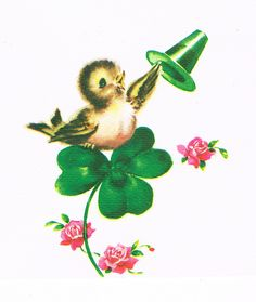 Vintage st Patrick's Day illustration St Patricks Day Cards, Happy St Patricks Day, Saint Patricks, Vintage Magazine, Erin Go Bragh, Irish Blessing, St Pats, St Paddys Day, Vintage Greeting Cards