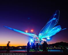 The Giant Butterfly, Burning Man 2010 by Michael Holden, via Flickr
