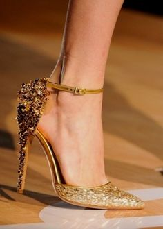 Gold Sequin Wedding Shoes - Wedding Inspirations