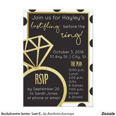 Bachelorette Invite- Last Fling Before the Ring