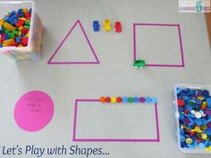 Shape Activities Kindergarten, 2d Shapes Activities, Learning Shapes, Hands On Learning, Preschool Learning, Hands On Activities, Preschool Activities, Math Games, Maths