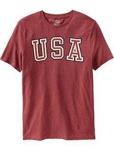 "Mens ""USA"" Graphic Tees"