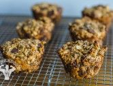 Hi-Energy Flourless Almond Butter & Oat Muffins