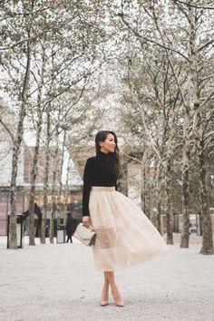 Holiday Ready :: Velvet sweater & Midi skirt