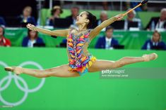 Yeon Jae Son of Korea competes during the Women's Individual All-Around Rhythmic Gymnastics Final on Day 15 of the Rio 2016 Olympic Games at the Rio Olympic Arena on August 2016 in Rio de Janeiro, Brazil. Gymnastics World, Sport Gymnastics, Rhythmic Gymnastics, Asian Games, Korean Star, Korean Girl, Rio Olympics 2016, Ballet, Sports Stars