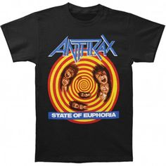 Tricou Anthrax: State Of Euphoria - MetalHead Merch Cheech And Chong, Large Black, Mens Tops, T Shirt, Metalhead, Supreme T Shirt, Tee Shirt, Tee