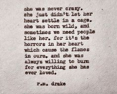 She was never crazy