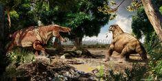 Titanosuchus y Moschops de Julius Csotonyi