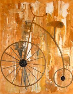 Oude Fiets, schilderij van Irene van Uxem .. Kunst / Abstract / Modern / Schilderij