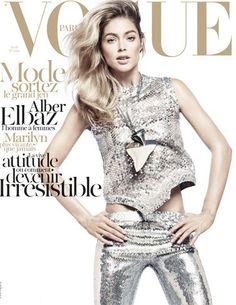 Metallic Fashion Vogue Paris cover. Imagine The One Thing: Liquid Metalics www.imaginefashion.com