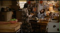 Diane Keaton's character Sybil had a table she used as a desk in the kitchen * The Family Stone