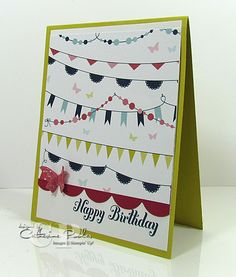 Mass Producing Birthday Cards Stampin' Up