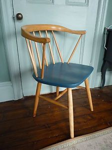 Vintage Retro 60's Danish upcycled Cowhorn Beech Chair made by Centica | eBay