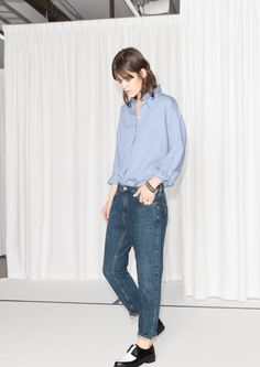 & Other Stories   Cropped Boyfriend Jeans