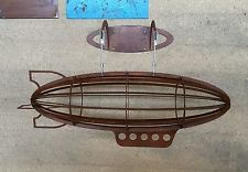 Luftschiff mit Halterung Zeppelin Steampunk  Deko Industrie Design Loft