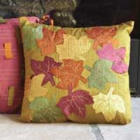 Download the free leaf template to create the applique pillow from Oct/Nov '11 Sew News