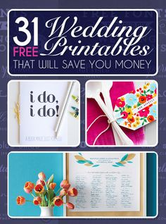 You can save a lot of paper (as in money ;) with these printables.