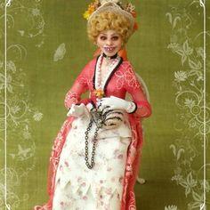 soraya dolls | ... de CRECY ooak Victorian lady 1:12 dollhouses doll by Soraya Merino